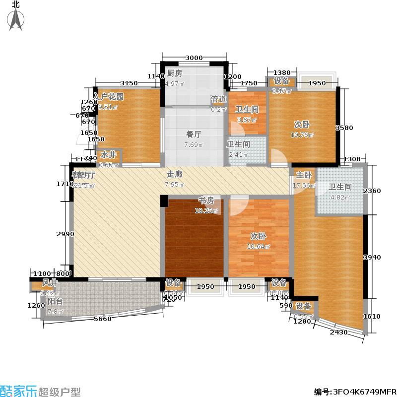 世纪金源御府151.51㎡世纪金源御府户型图5幢1/2单元02户型4室2厅2卫套内面积124.27平米(29/50张)户型4室2厅2卫