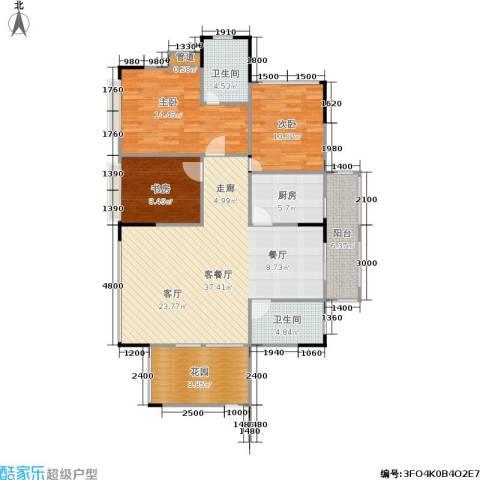 加新锋尚星空3室1厅2卫1厨107.00㎡户型图