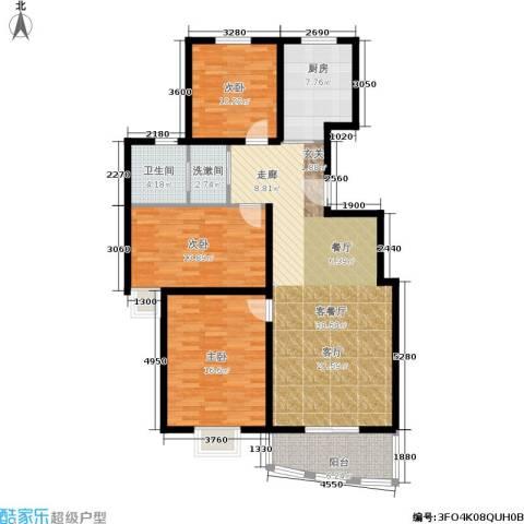 万国金色家园3室1厅1卫1厨112.00㎡户型图