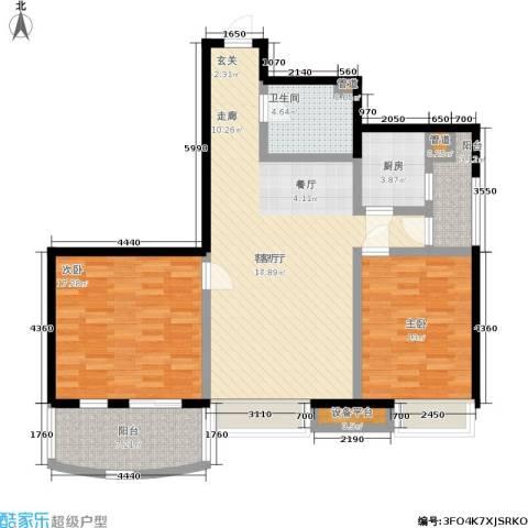 梧桐朗座2室1厅1卫1厨98.00㎡户型图