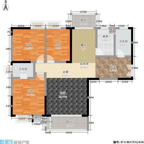 天健芙蓉盛世3室0厅2卫1厨131.00㎡户型图