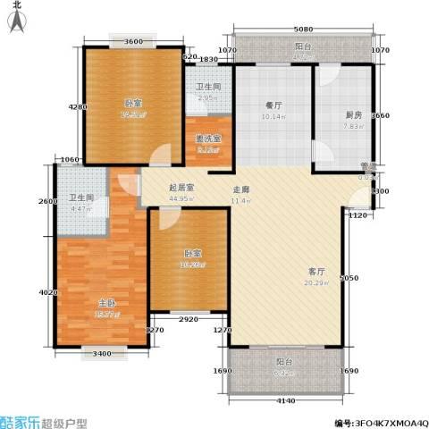 宝城名苑1室0厅2卫1厨111.80㎡户型图
