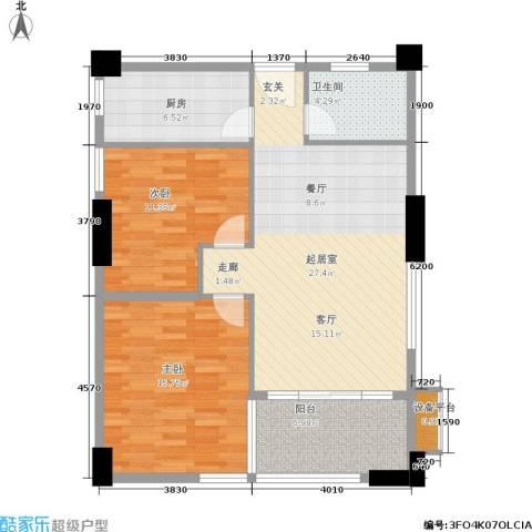 紫来居2室0厅1卫1厨82.12㎡户型图