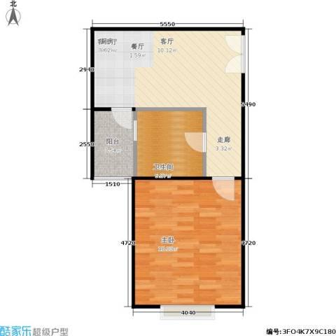 居礼1室1厅1卫0厨50.00㎡户型图