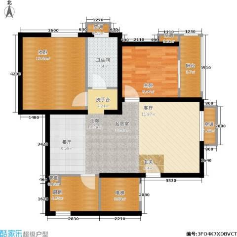 锦绣泉城2室0厅1卫1厨102.00㎡户型图
