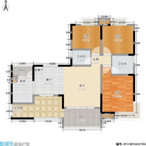 万友七季城3室1厅2卫1厨141.00㎡户型图