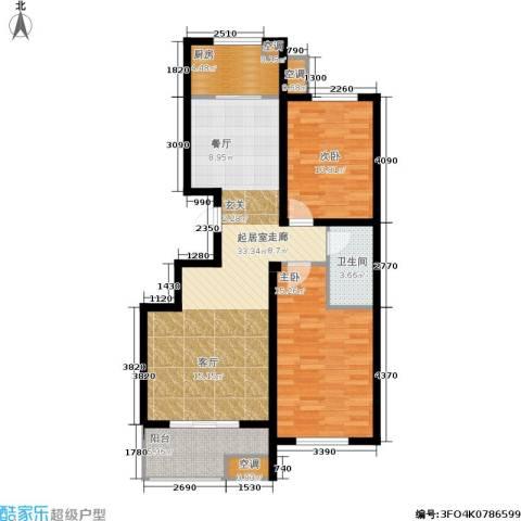 锦绣泉城2室0厅1卫1厨107.00㎡户型图