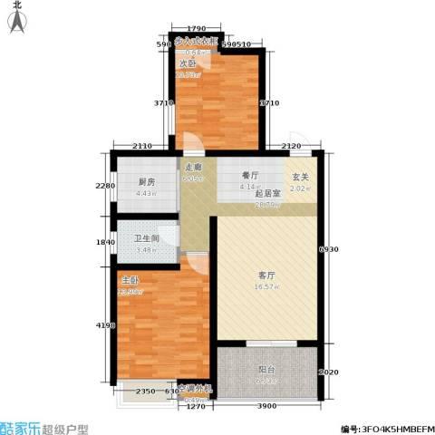 海棠花园2室0厅1卫1厨96.00㎡户型图
