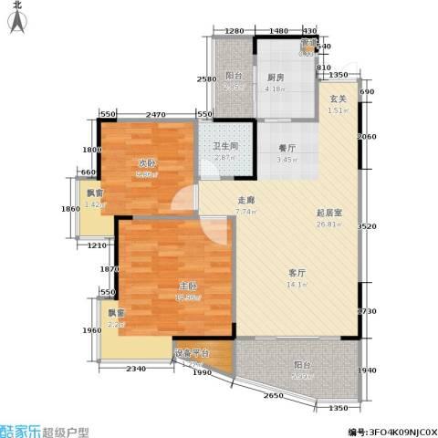 国瑞城2室0厅1卫1厨94.00㎡户型图