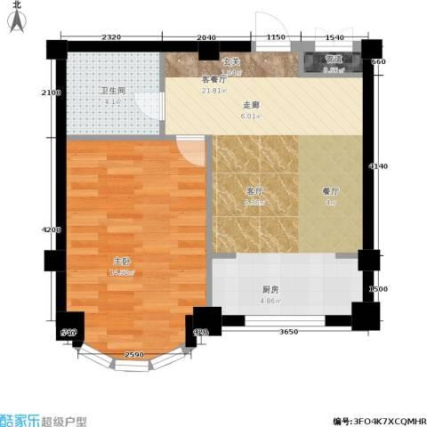 文华园1室1厅1卫0厨58.00㎡户型图