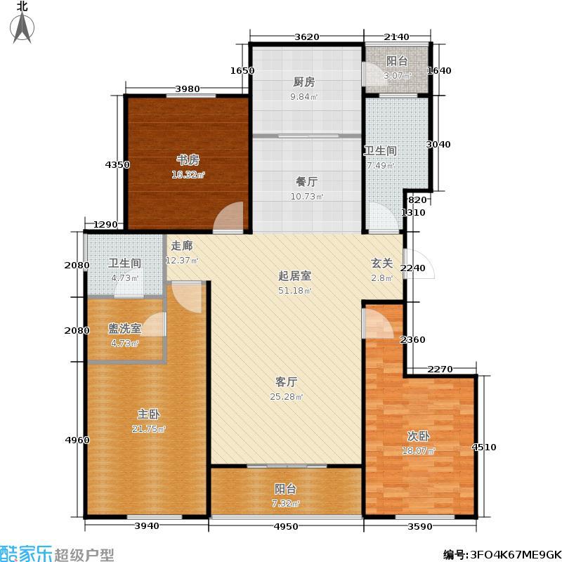 永大颐和园9、10号楼-2室2厅1卫1厨154.08㎡户型