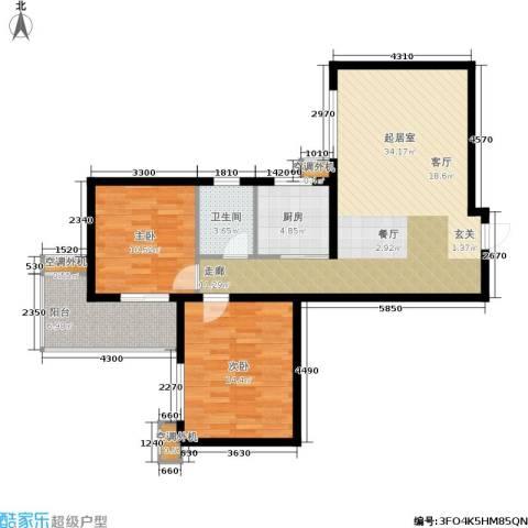 海棠花园2室0厅1卫1厨97.00㎡户型图