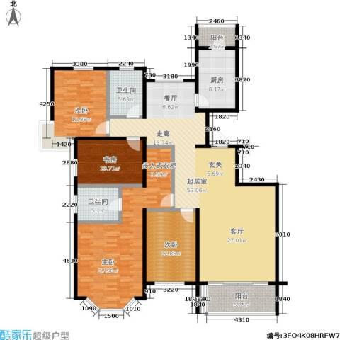 东海徽园4室0厅2卫1厨163.00㎡户型图