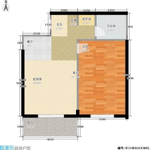 八水上筑1室0厅1卫0厨66.00㎡户型图