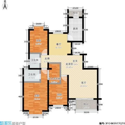 东海徽园3室0厅2卫1厨105.00㎡户型图