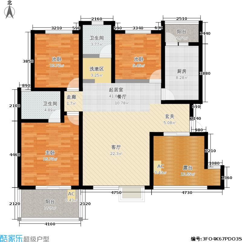 火炬东第134.90㎡花园洋房户型3室2厅2卫