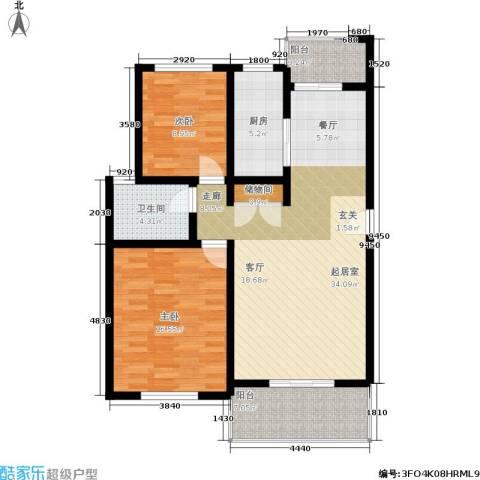 香榭俪都2室0厅1卫1厨92.00㎡户型图