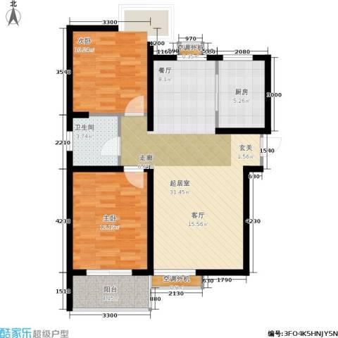 海棠花园2室0厅1卫1厨94.00㎡户型图