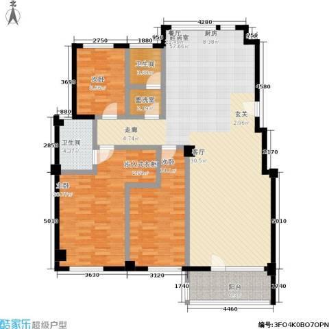 福佳绿都3室0厅2卫0厨167.00㎡户型图
