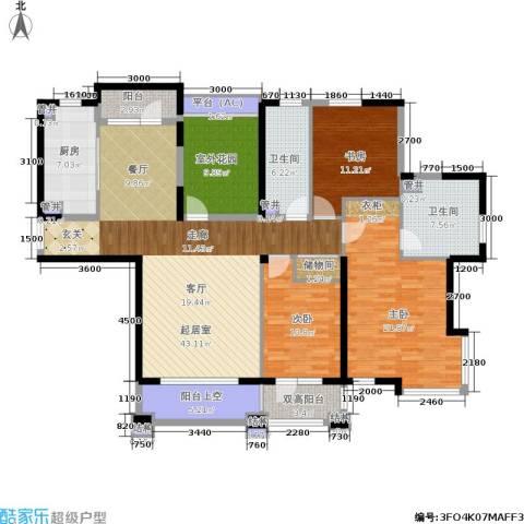 中海华庭3室0厅2卫1厨167.00㎡户型图
