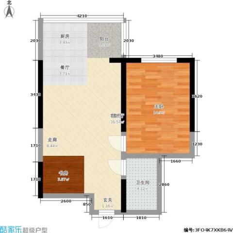 天伦盛世1室1厅1卫0厨60.84㎡户型图