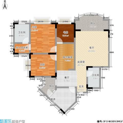 佳华世纪新城3室0厅2卫1厨133.00㎡户型图