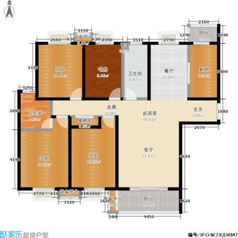 唐南香榭4室0厅2卫1厨161.00㎡户型图