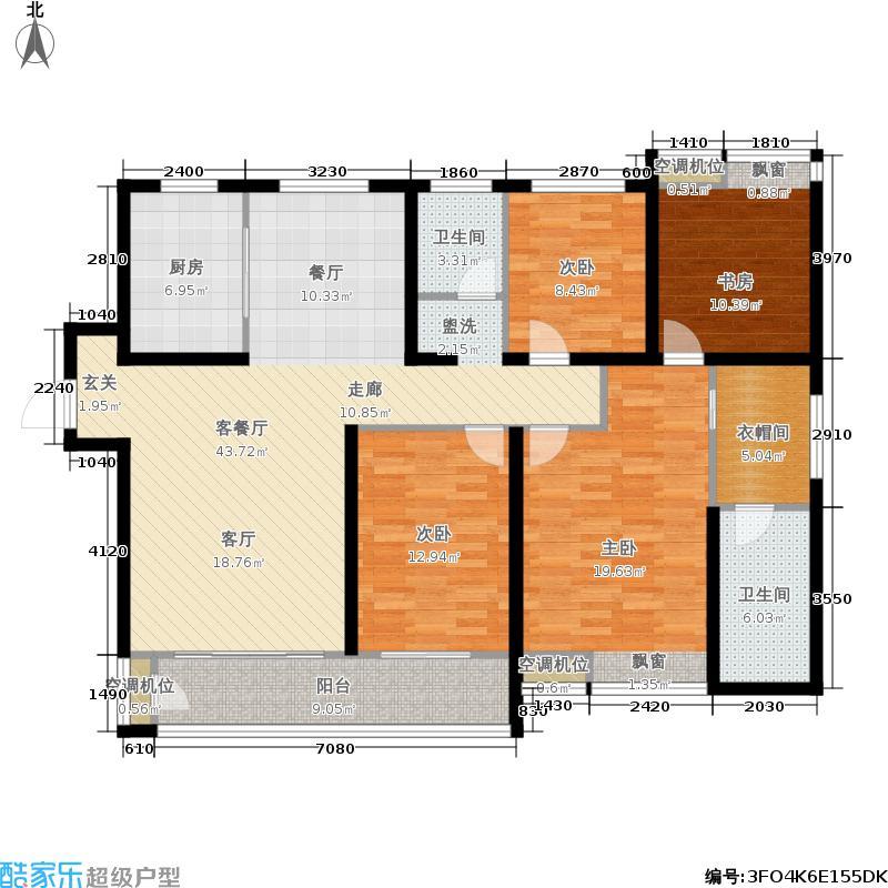 鲁商常春藤144.00㎡鲁商常春藤144.00㎡3室2厅2卫户型3室2厅2卫