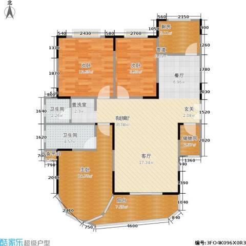 雍景台3室1厅2卫1厨103.00㎡户型图