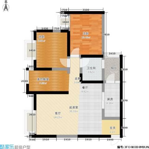 曼哈顿广场2室0厅1卫1厨65.23㎡户型图