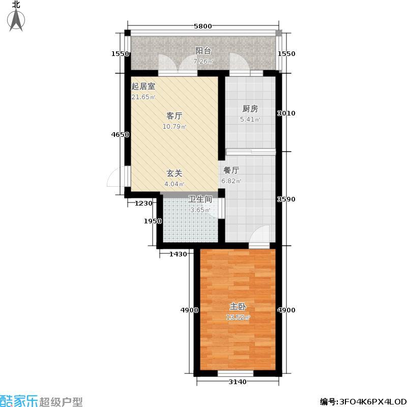 金帝花城11室2厅1卫1厨43.24㎡户型