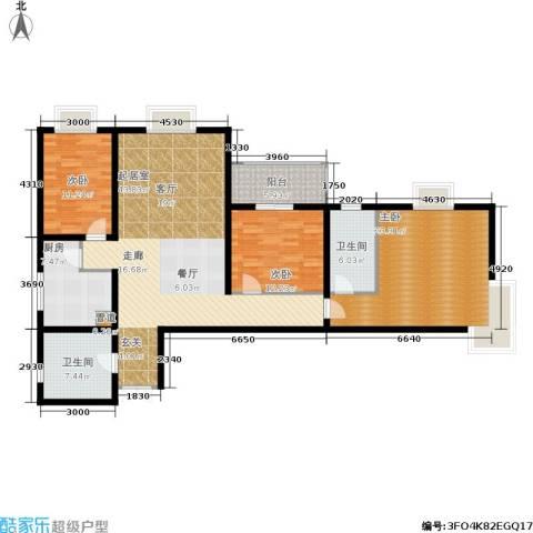 中登家园3室0厅2卫1厨122.00㎡户型图