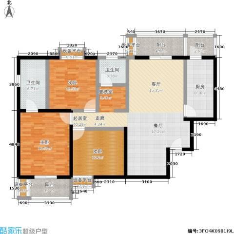 左安漪园3室0厅2卫1厨132.00㎡户型图
