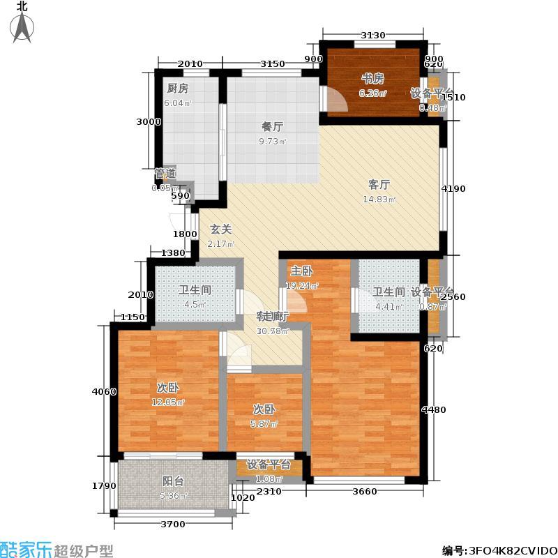 文锦新城户型4室1厅2卫1厨