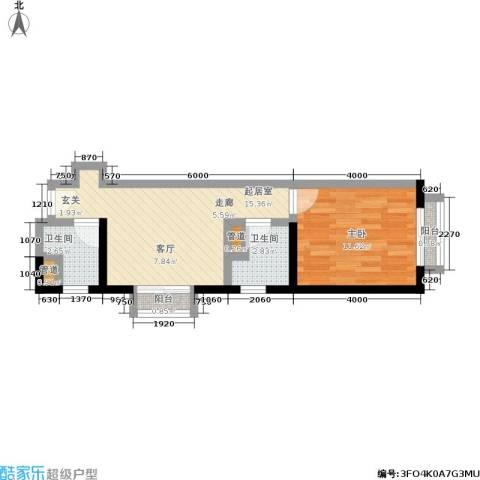 金桥国际公寓1室0厅2卫0厨54.00㎡户型图