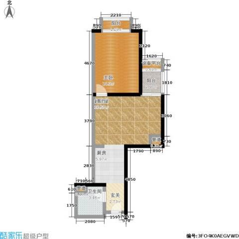 金桥国际公寓1室0厅1卫0厨57.00㎡户型图