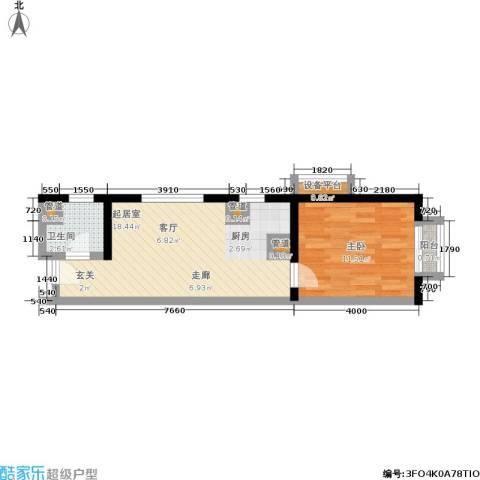 金桥国际公寓1室0厅1卫0厨52.00㎡户型图