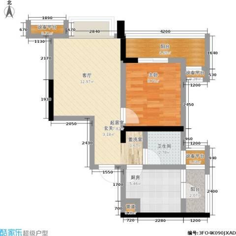 盛世明珠1室0厅1卫1厨46.00㎡户型图