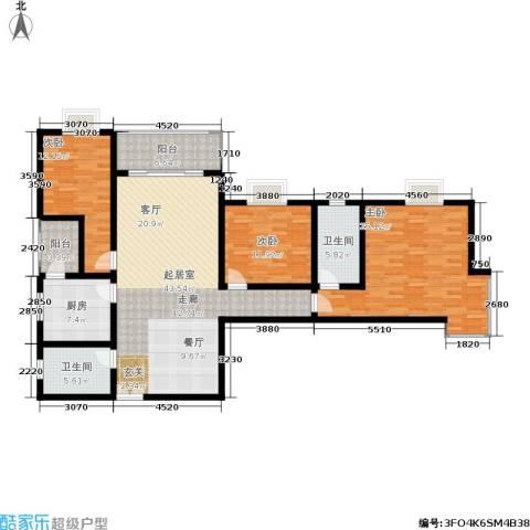 中登家园3室0厅2卫1厨173.00㎡户型图