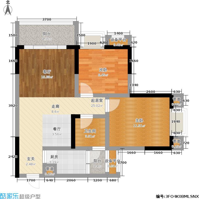 东海岸聚点2、5、12号房户型