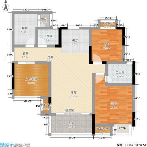 纳帕溪谷2室0厅2卫1厨118.00㎡户型图