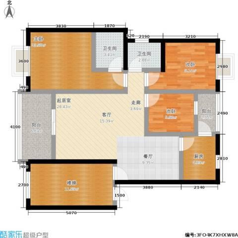 星光名都3室0厅2卫1厨91.00㎡户型图