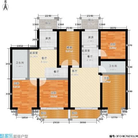 山水文园4室0厅2卫2厨158.00㎡户型图