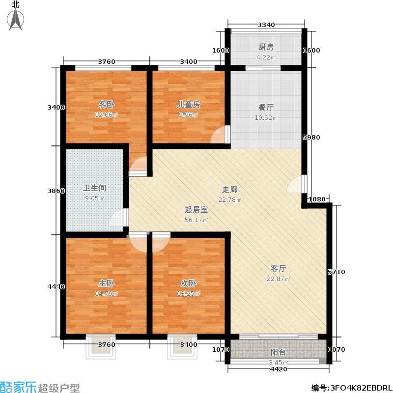 杏花苑户型4室1卫1厨