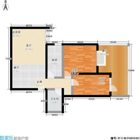 左安漪园2室0厅1卫1厨89.00㎡户型图