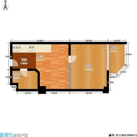 纽约之星1室0厅1卫0厨77.00㎡户型图
