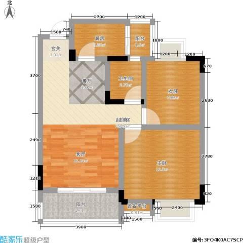 湖榕锦苑2室0厅1卫1厨62.00㎡户型图