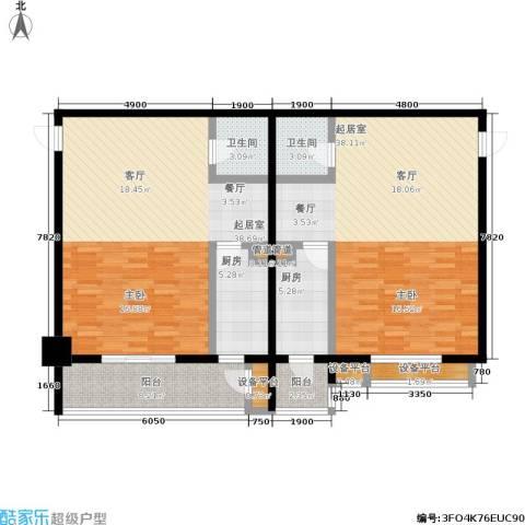 沈阳曙光大厦2卫2厨123.52㎡户型图