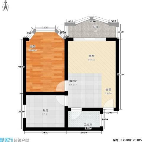 秋实小区1室0厅1卫1厨52.00㎡户型图