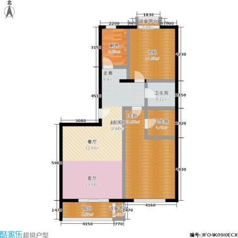 左安漪园2室0厅2卫1厨107.00㎡户型图